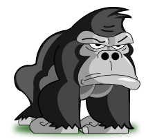 Ogillar.se's maskot Gogilla